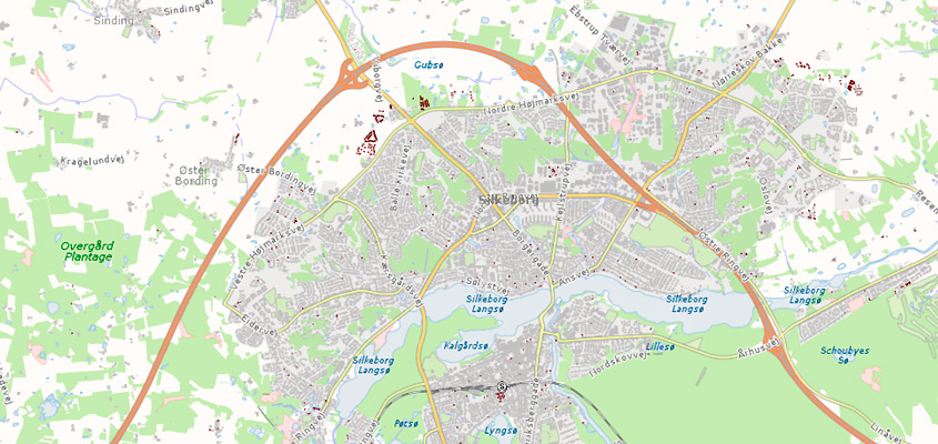 Kort Over Silkeborg Kommune Til Print Og Pdf